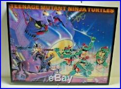 RARE 1988 Mirage Studios Teenage Mutant Ninja Turtles Framed LED Store Display