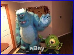 RARE 2001 Pixar Monsters INC. Life Size Sulley Mike Store Display Disney Movie
