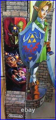 RARE 2011 Nintendo 3DS Legend of Zelda Ocarina GameStop Store Display 4ft Tall