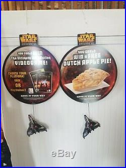 RARE 6 feet 6 tall Star Wars Store Display Burger King Promo Watches
