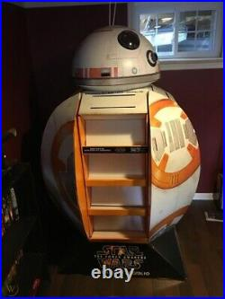 RARE 6 tall Star Wars BB-8 Droid Walmart store Display dvd shelf Pickup only