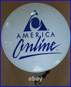 RARE AOL America Online Double-Sided Lighted Store Sign Display 1990's Internet