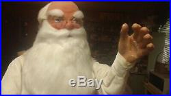 RARE Animated Vintage Mechanical Hamberger Store Display Santa Claus