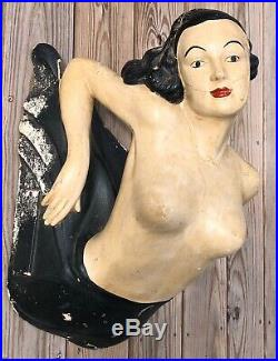 RARE Antique 1920s Clothing Store Display Mannequin Nautical Lady Mermaid VTG