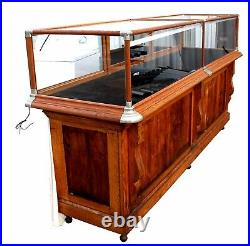 RARE Antique American Oak Country Store Display Case, Joseph Knittel