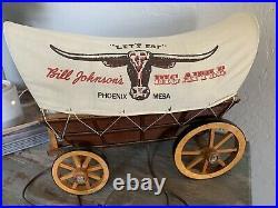 RARE Bill Johnson's Big Apple Phoenix / Mesa AZ Arizona WAGON LIGHT DISPLAY