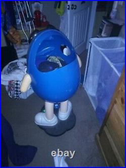 RARE Blue M&M's Candy Character Store Display Figure