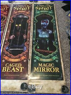 RARE Cirque du Spirit Halloween Exclusive Store Display Banners Uncle Charlie