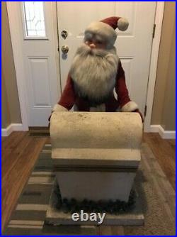 RARE Harold Gale Animated Store Display Santa With Chest