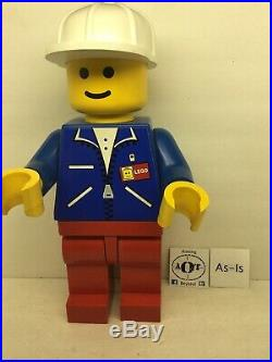 RARE LEGO Minifigure Store Display 19 Inches Tall Blue Shirt Hard Hat #632