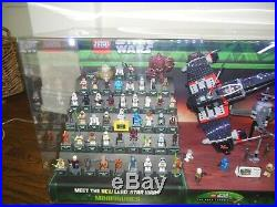 RARE Lego Star Wars The Yoda Chronicles Store Display 60 FIGURES