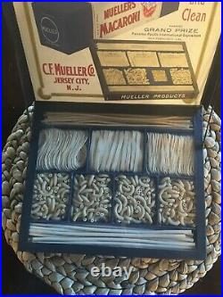 RARE! Mueller Noodles Salesman Sample Advertising Display Mint Original Antique