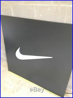 RARE Nike Outlet Light Up Swoosh Metal Sign 4' x 4'2'