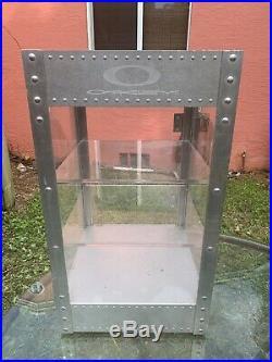RARE OAKLEY X Metal Display Cabinet Case 28 x 16 x 16 with Key & Lock