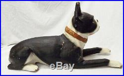 RARE Old 1930s BRYANT PUP Boston Terrier Furnace Advertising STORE DISPLAY Dog