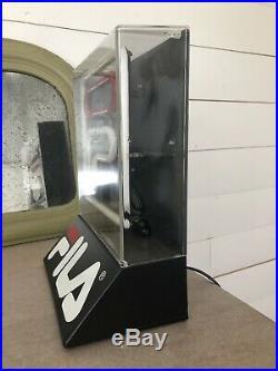 RARE VTG 1990s FILA Sneaker Shoe Neon store Counter Top Display sign 11 STREET