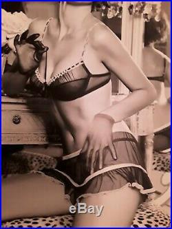 RARE Victoria Secret Large B/W Store Adriana Lima Posters 38 x 34