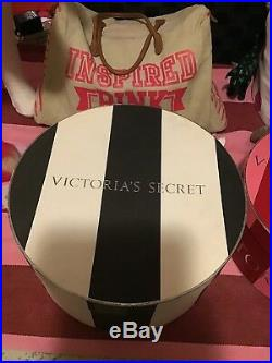 RARE Victoria's Secret Store Display Prop 6 Hat Boxes Red/Pink Striped HTF