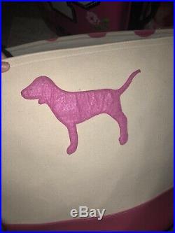RARE Victorias Secret PINK HUGE Canvas Storage Bin Tote Store Display Prop Dog