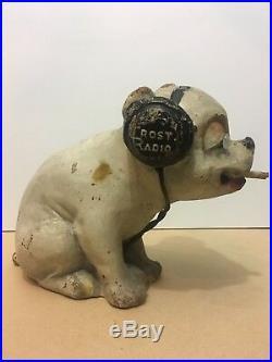 RARE Vintage 1920s BONZO FROST FONES RADIO Store Display mascot Crosley pup dog