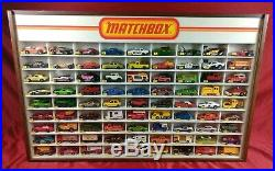 RARE! Vintage 1960's Lesney Matchbox Store Display Case With 81 NM+ Vehicles