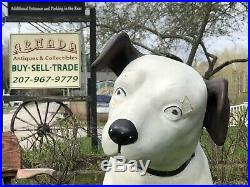 RARE Vintage 40s RCA Victor Nipper Dog Composition Store Display 39 Tall