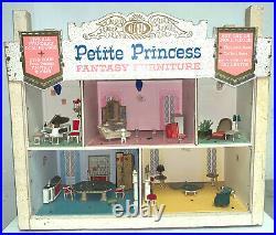 RARE Vintage Ideal Petite Princess Dollhouse Store Display Complete Fantasy