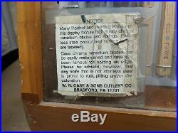 RARE Vintage Original 1981 CASE XX Dealer Store Display with 69 Pieces