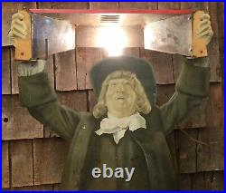 RARE Vintage Original OLD QUAKER WHISKEY Country Store Light Up Display Sign