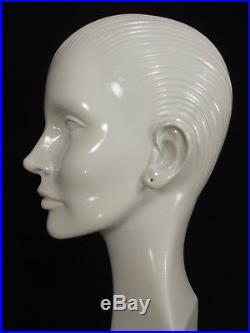 RARE vintage MANNEQUIN head woman abstract 1960's STORE WINDOW DISPLAY 33 TALL