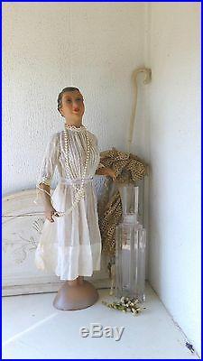 RARE, vintage miniature mannequin, antique mini mannequin, paper maché, art-deco