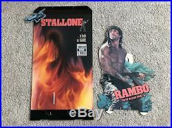 Rambo II Video Store Display, Rare! Comes With Bonus Item! Must Look! Very Cool