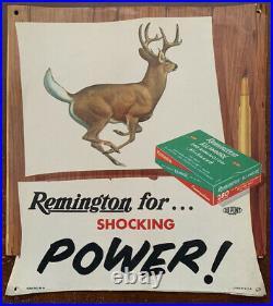 Rare 1956 Remington 280 Kleanbore Hi Speed Hanging Sign Store Display 10x11