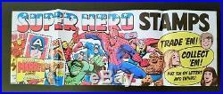Rare 1976 Marvel Comics Spider-Man Stamps Store Display Poster Marvelmania