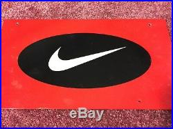 Rare 1990s Nike Porcelain Sign Display from Dicks Sporting Goods Size 12 X 6.5