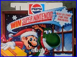 Rare 1991 Pepsi Super Nintendo Store Display Poster / SNES Give Away Promotional