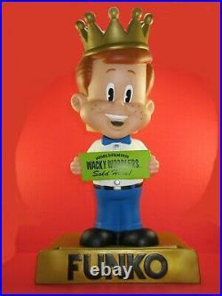 Rare 2002 Vintage Freddy Funko Wacky Wobbler Store Display Bobblehead Excellent