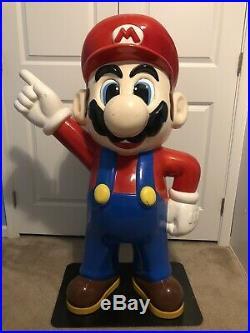 Rare 4 Vintage Nintendo Super Mario Bros Video Game Store Display Promo Statue