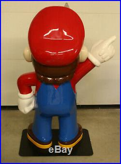 Rare 4' Vintage Nintendo Super Mario Bros Video Game Store Display Promo Statue