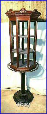 Rare 6' Revolving Tower Showcase / Display, Country / General / Jewelry Store