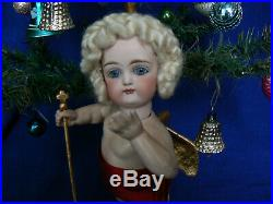 Rare 9 Kestner Bisque Angel Doll Closed Mouth Antique Store Display Christmas