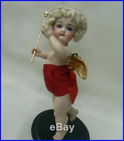 Rare 9 Kestner Christmas Angel Bisque Doll Store Display Closed Mouth Antique
