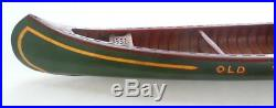 Rare Antique 1920's 48 Green Salesman Sample Store Display Old Town Canoe