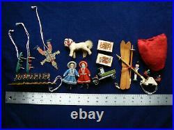 Rare Antique 32 German Clockwork Nodder Santa Bisque Doll Store Display