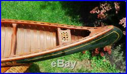 Rare Antique 48 Green Canvas Cedar Salesman Sample Store Display Old Town Canoe