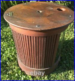 Rare Antique Country Store Round Merrick Spool Display Cabinet Outer Shell