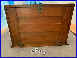 Rare Antique Late 1800's General Store Oak Display Cabinet Candy & Dry Goods