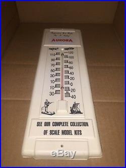 Rare Aurora Model Store Display Temp. Thermometer Frankenstein plane late 60s