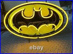 Rare Authentic DC Batman Arcade/Comic Book Store Neon Lighted Display