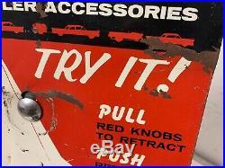 Rare Big Boy Safe-a-way Trailer Hitch Accessory Dealer Counter Display Antique